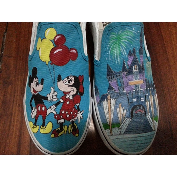 Disney Mickey Mouse Anime Painted Shoes-2