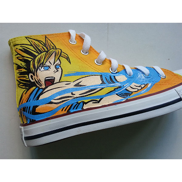 dragon ball z anime shoes Slip-on Painted Canvas Shoes-4