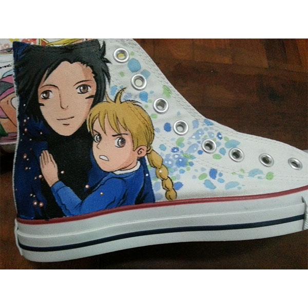 Custom Hand Painted Shoes Howl's Moving Castle Shoes-2