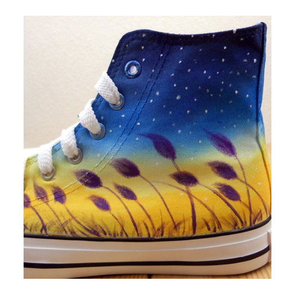 Galaxy Canvas Sneakers Custom High Top Fashion Shoes for Men Wom-3