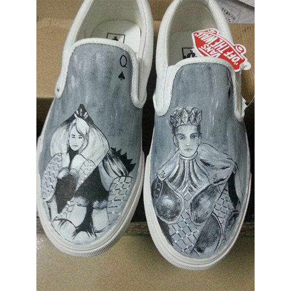King Queen Vans Shoes Custom shoes for men or women