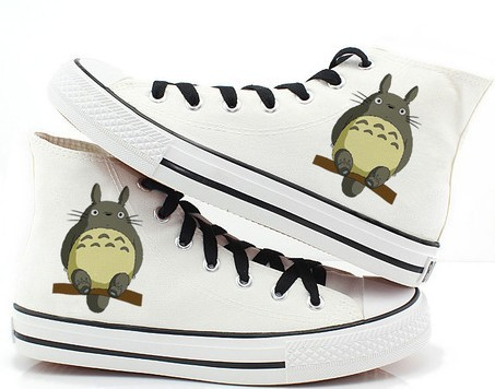 Totoro Shoes Totoro High-top Painted Canvas Shoes-1