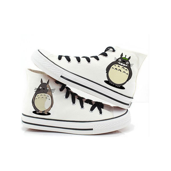 Totoro Shoes Totoro High-top Painted Canvas Shoes
