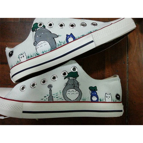 Totoro Shoes  Anime Custom Totoro Painted Anime Shoes