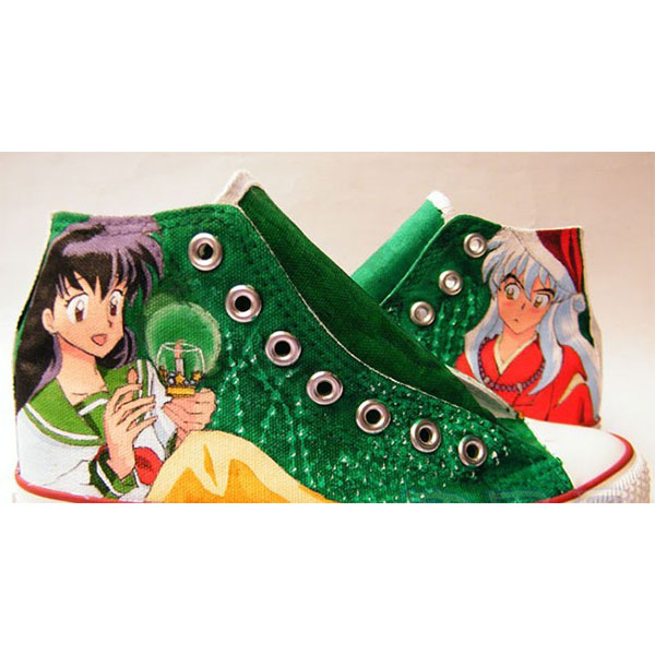 InuYasha anime Shoes Custom High-top Painted Canvas Shoes-1