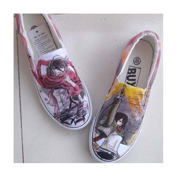 Attack on titan Anime hand painted shoes Custom Anime Shoes