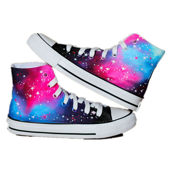 Galaxy shoes Custom Galaxy Sneakers Hand-Painted On Shoes-1