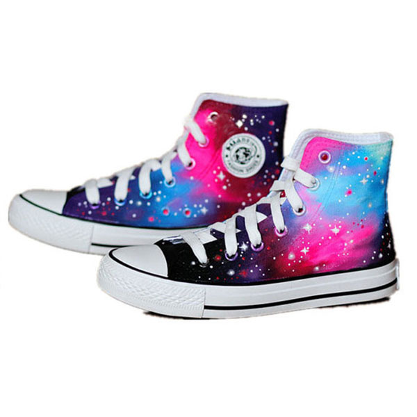 Galaxy shoes Custom Galaxy Sneakers Hand-Painted On Shoes-2