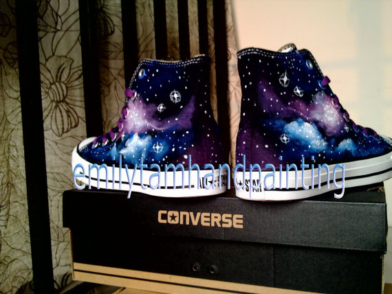 Galaxy Sneakers Purple and Blue Galaxy Shoes-1