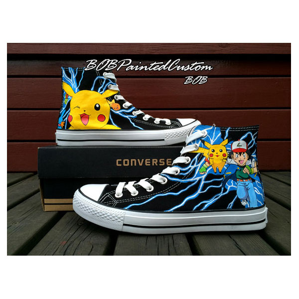 pokemon anime Anime Shoes for Boys Girls Hand Painted High Top B-1