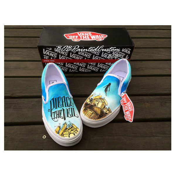 Pierce the Veil Hand Painted Vans for Men Women Custom Design Sl