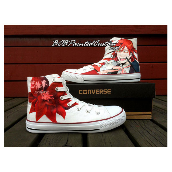 Black Butler Sneakers for Sale Hand Painted Custom Anime Shoes M-1