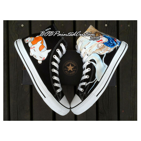 Black Canvas Sneaker Customizable Hand Painted Converse Shoes Bl-2