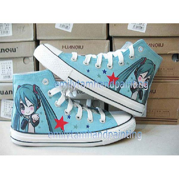 VOCALOID Shoes Custom Hatsune Miku Shoes Hand Painting Sneakers-2