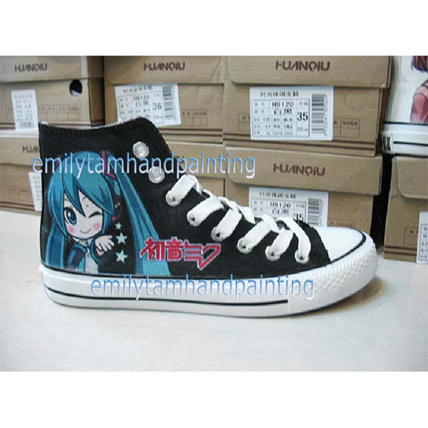 VOCALOID Shoes Custom Hatsune Miku Shoes Hand Painting Sneakers-3