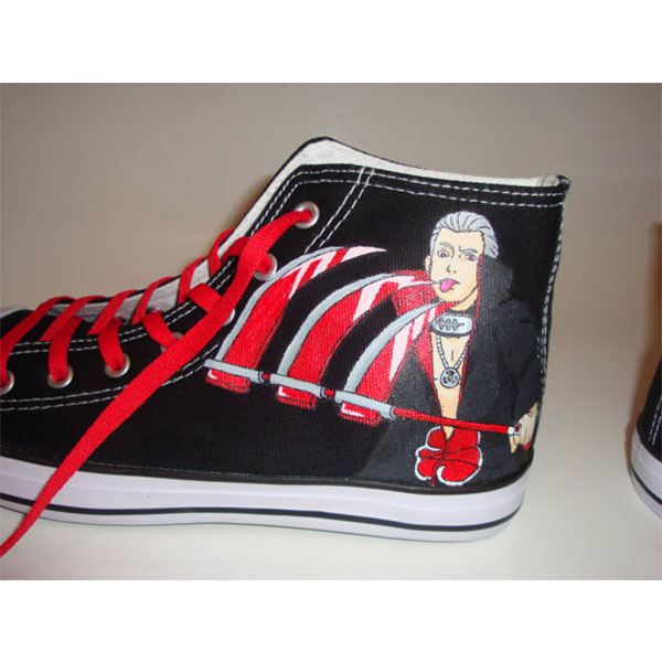 Akatsuki Naruto Shoes High-top Painted Canvas Shoes-3