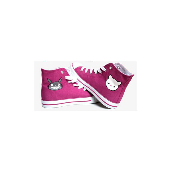 My Neighbor Totoro Shoes High-top Painted Canvas Shoes-1