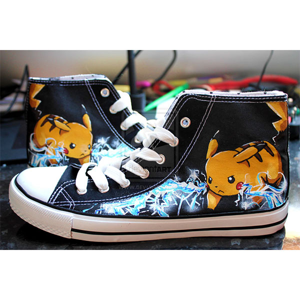 Hand Painted Pikachu Shoes Pikachu Anime Shoes