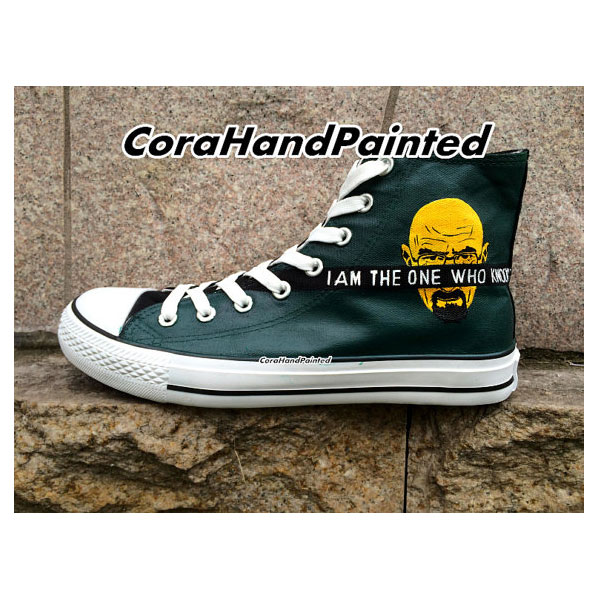 Breaking Bad High Top Sneaker Hand Painted Green Fashion Canvas -3