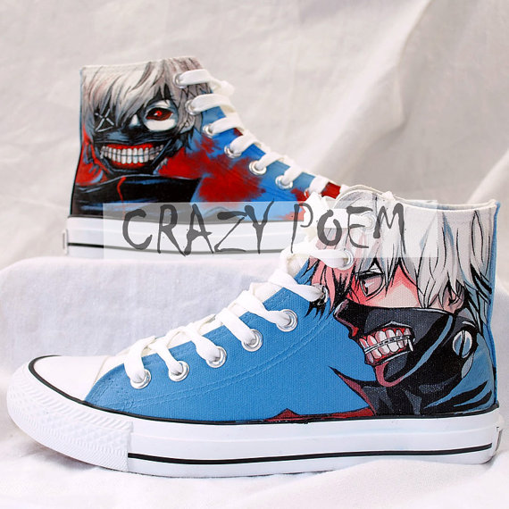 Tokyo Ghoul Hand Painted Shoes High Top Canvas Shoes Custom Conv-1