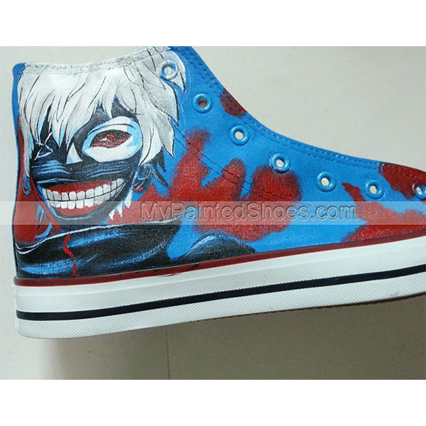 Tokyo Ghoul Hand Painted Shoes High Top Canvas Shoes Custom Conv-3