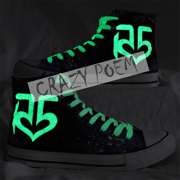 R5 With Galaxy Background Hand Painting Shoes Custom shoes High -3