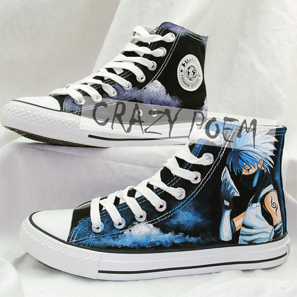 Naruto Kakashi Hand Painted Shoes Custom Cosplay Anime Shoes for-2