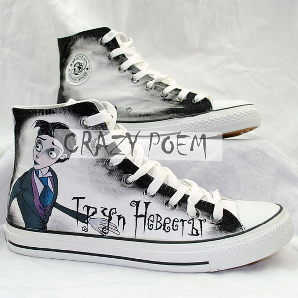 Corpse Bride Hand Painted Shoes Custom Fandom Shoes for Men Wome-2