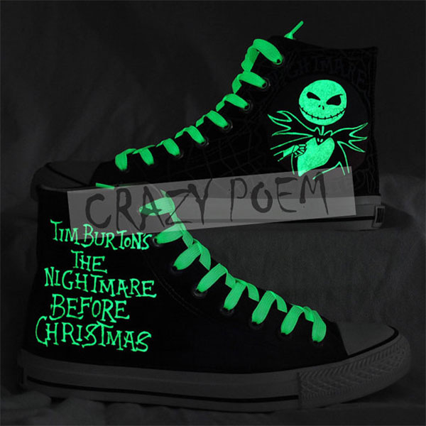 The Nightmare Before Christmas Hand Painting Shoes Custom shoes -3