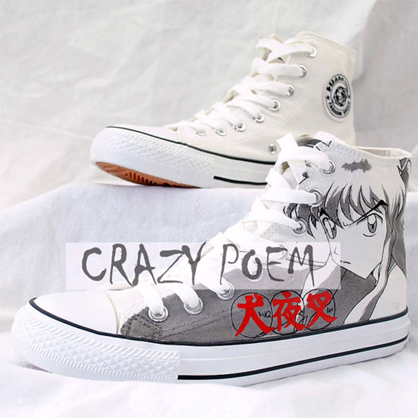 Inuyasha Hand Painting Shoes Cosplay Anime Shoes Best Gifts for -2