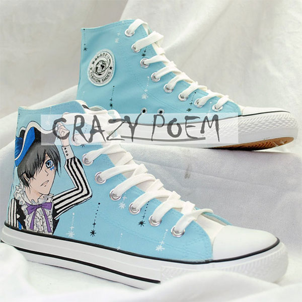 Black Butler Hand Painted Shoes Anime Shoes-2
