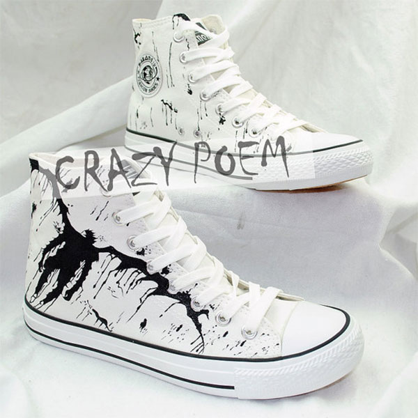 Anime Death Note Custom Hand Painted Hi-Top Canvas Shoes Unisex-2
