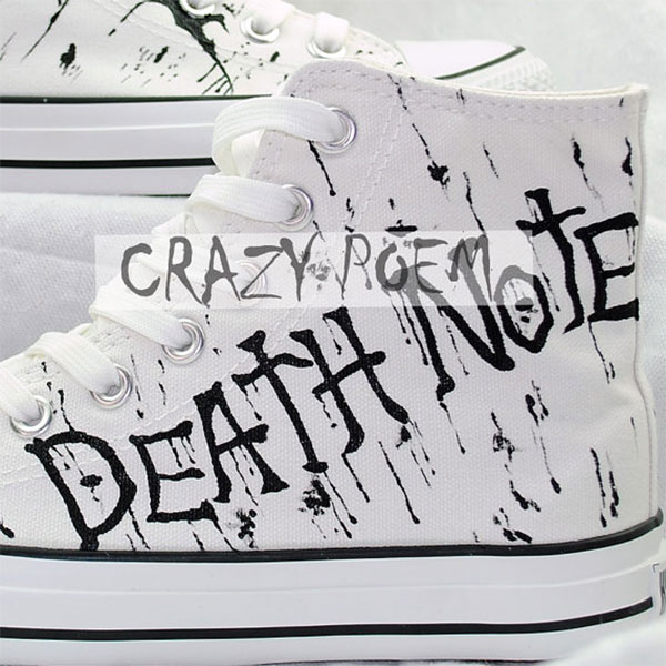Anime Death Note Custom Hand Painted Hi-Top Canvas Shoes Unisex-3
