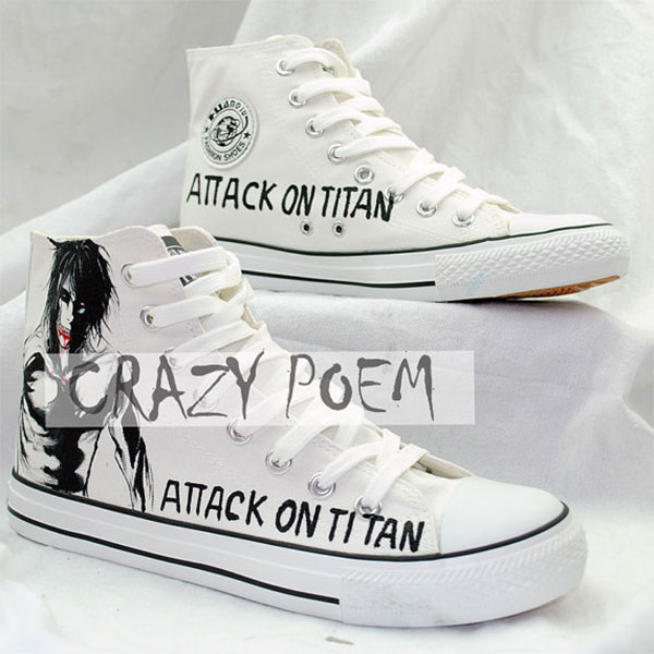 Attack on Titan Sneakers Custom Shoes Hand Painted Shoes High To-2