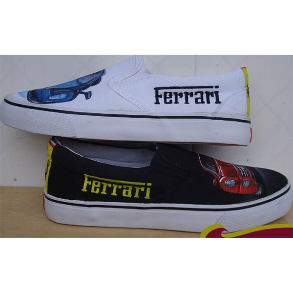 ferrari Hand Painted Shoes Custom Shoes for Men Women-1