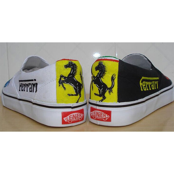 ferrari Hand Painted Shoes Custom Shoes for Men Women-2