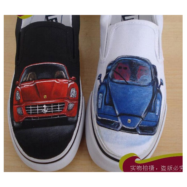 ferrari Hand Painted Shoes Custom Shoes for Men Women