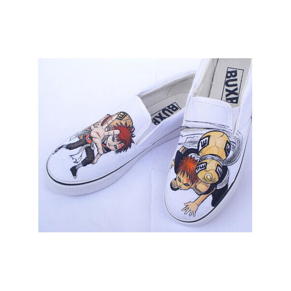 Naruto Gaara Anime Hand Painted Shoes for men women-1