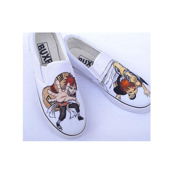 Naruto Gaara Anime Hand Painted Shoes for men women-2