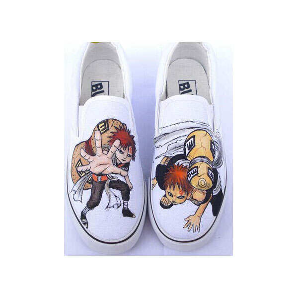 Naruto Gaara Anime Hand Painted Shoes for men women
