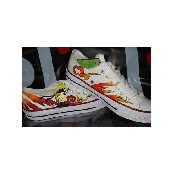Anime Shoes Naruto Shoes Low-top Painted Canvas Shoes