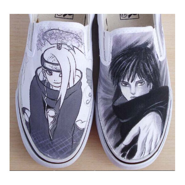 anime custom hand painted shoes naruto  Canvas Sneaker Shoes for