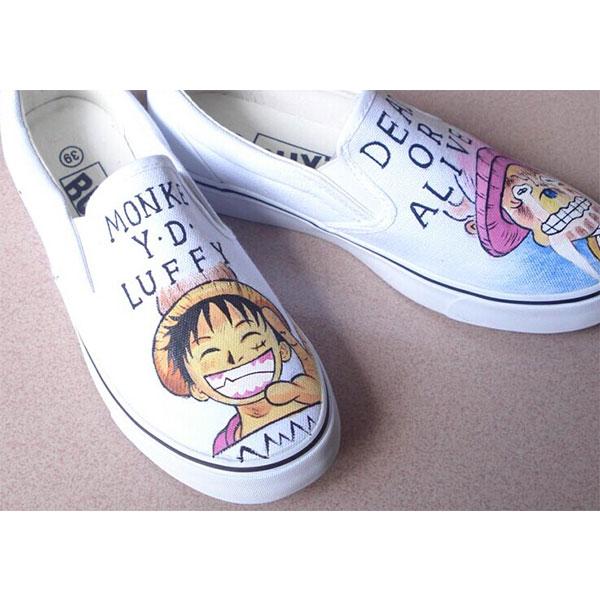 Luffy Custom Slip On Chopper Custom Slip On Vans Shoes-2