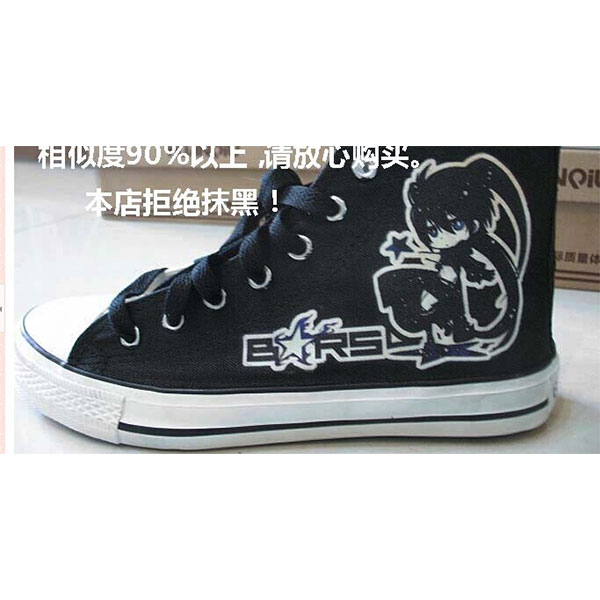 Black High Top Canvas Sneaker for Women Men BLACK ROCK SHOOTER