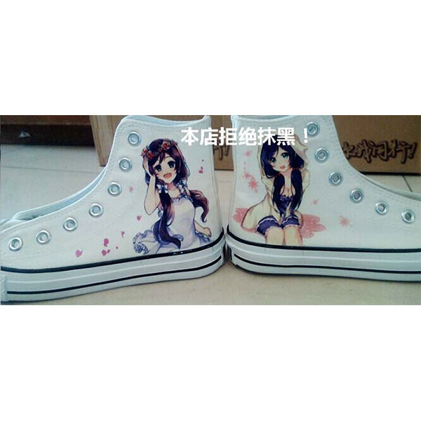 Home Decor Anime Love Live! High Top Canvas Sneaker for Women