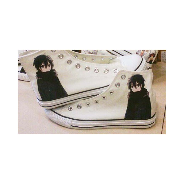 Sword Art Online Anime Shoes Men/Women black Canvas Shoes