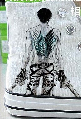 Attack on Titan High-top Hand Painted Sneaker Canvas Shoes Unise-1