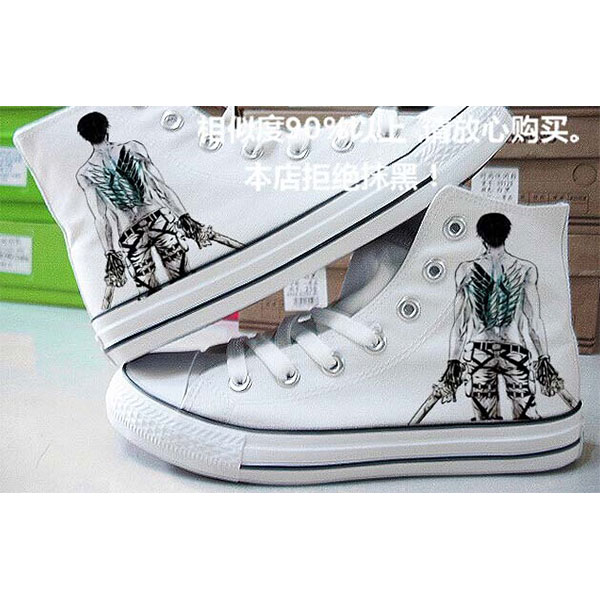 Attack on Titan High-top Hand Painted Sneaker Canvas Shoes Unise