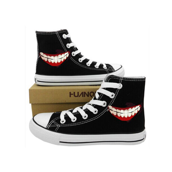 Anime Tokyo Ghoul Canvas Sneaker for Women Men High-top Painted