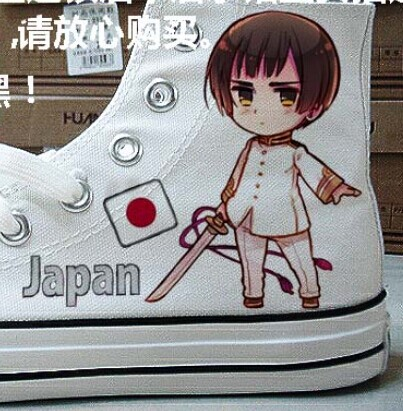Anime Shoes Hetalia: Axis Powers High-top Painted Canvas Shoes-1